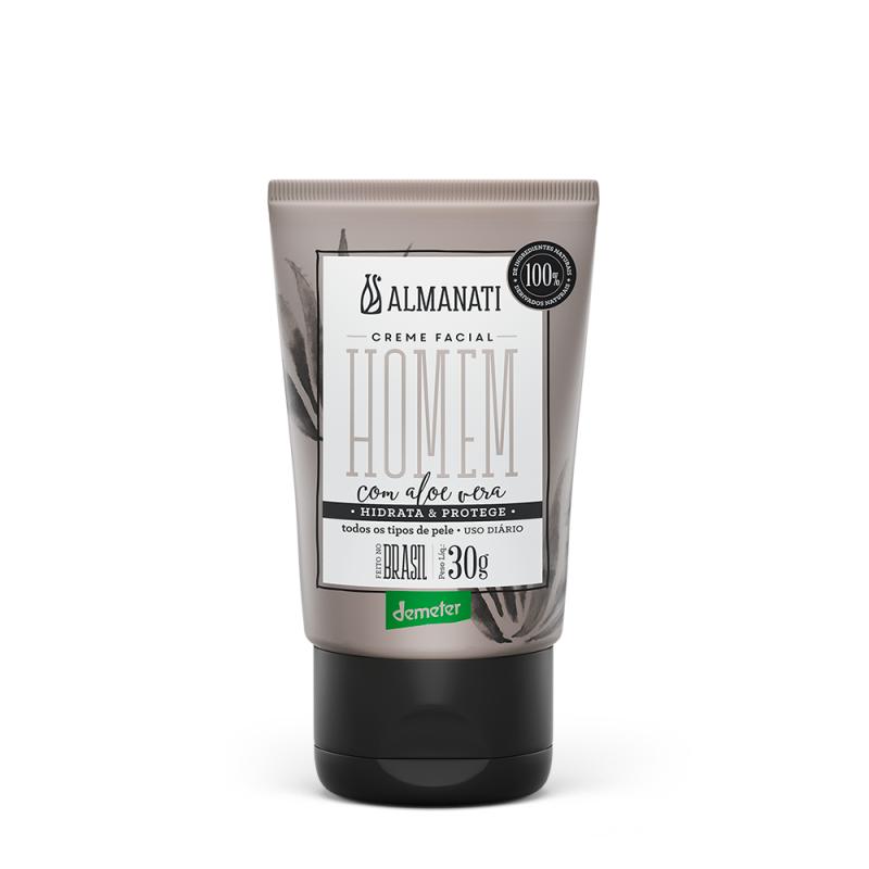 imagem Creme Hidratante Facial Homem - 30 g - Almanati