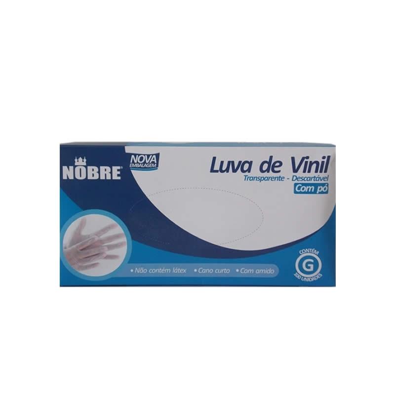 imagem Luva Vinil com Pó - G - Nobre