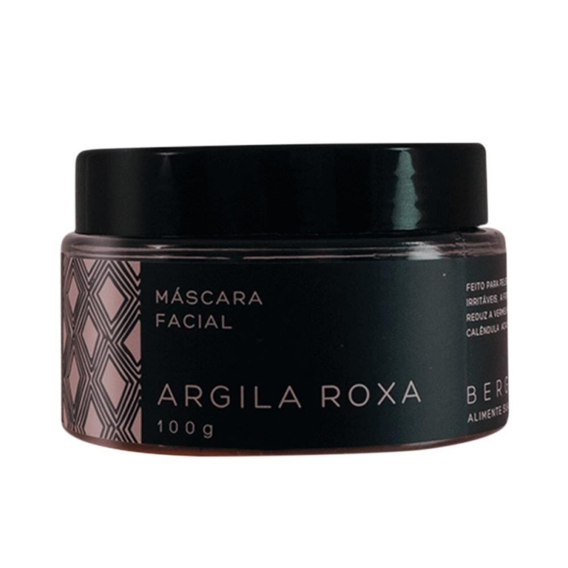 imagem Máscara facial de Argila Roxa - 100 g - Bergamia